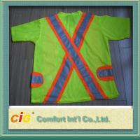 Wholesale Orange Red Green Pink Traffic Reflective Safety Vests Clohting of 100% Polyester from china suppliers