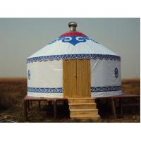 China Mongolian Tent Yurt Luxury Interior Design , Yurt Style Tent For Outdoor Living on sale
