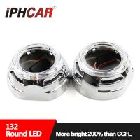 Wholesale IPHCAR 3 inch Led Light Guide Angel Eye Car Projector Lens Shroud Led Halo Ring Mask from china suppliers