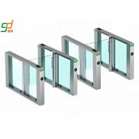 Wholesale Fastlane Supermarket Swing Gates ,AC 220V Glass Arm Turnstiles For Passages from china suppliers