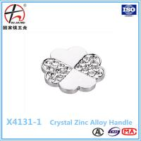 Buy cheap Diamond Insert Crystal Glass Cabinet Knobs Drawer Pull Furniture Handle from wholesalers