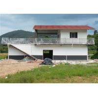 Wholesale One And A Half Floor Steel Frame Small House / Light Steel Prefab House With Balcony from china suppliers