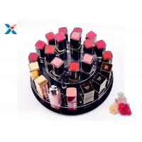 Wholesale 2 Tiers Round Acrylic Makeup Organiser 360 Degree Rotating For Displaying Lipsticks from china suppliers