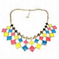 Wholesale Fashionable Necklace, Metal-linked Design, Decorated with Multicolor Enamel from china suppliers