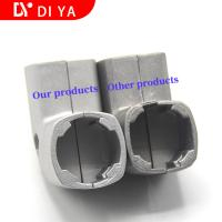 Wholesale Silver Color Extruded Aluminum Track DY10 Industrial Lean Tube Connector from china suppliers