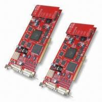 Wholesale MPEG-4 32CH Hardware Compressed Video Capture Card, Supports DFynamic and Static IP from china suppliers