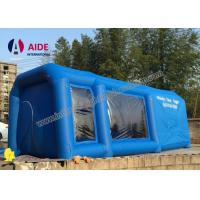 Wholesale Mobile Used Inflatable Paint Booth , Gray Environmental Car Painting Tent from china suppliers