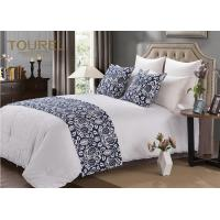 Wholesale Elegant & Simple Hotel Bed Runners King Size Blue Bed Runner from china suppliers