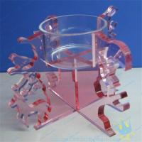 Wholesale CH (18) Acrylic tube candle holder from china suppliers