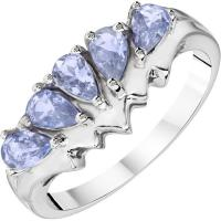 Wholesale Elegant Fashion Jewelry Rings Blue Sapphire  Diamond Wedding Brand Rings from china suppliers