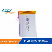 Wholesale pl415785 3.7V rechargeable lipo battery  with 3000mAh for GPS, beauty apparatus, Power Bank, Led Light from china suppliers
