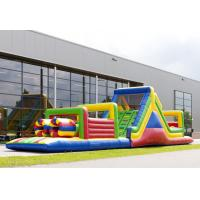 Wholesale 17.5m Kids Multi Color Obstacle Course Bouncy Castles Run For Fun from china suppliers