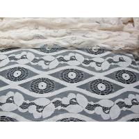China Soft Ivory Cotton Nylon Voile Lace Fabric , Floral Lace Mesh Fabric SYD-0012 on sale