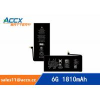 Quality ACCX brand new high quality li-polymer internal mobile phone battery for IPhone 6G with high capacity of 1810mAh 3.8V for sale