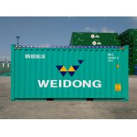 China 20 Foot High Cube Open Top Container , Custom Color Steel Shipping Containers for sale
