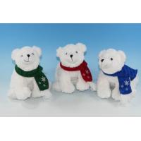 China 8 Plush White Polar Bear With Red Scarf on sale