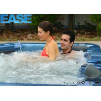 Wholesale 4 Seats + 2 lounges Square Combo Massage Bathtub / Outdoor Bathtubs In Ocean Wave Blue from china suppliers