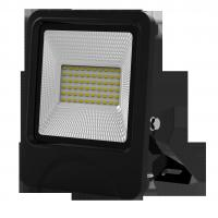 Wholesale outdoor lighting lamp flood light led 30W 60pcs SD5730 IP66 isolated IC driver black fixture new slim integrated design from china suppliers