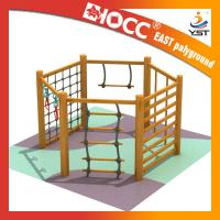 China Non Toxic Childrens Wooden Climbing Frame 304 Stainless Fasteners Safe And Reliable on sale