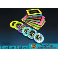 Wholesale Anti - Counterfeiting RFID Casino Chips / Crystal Poker Chips Round Shape from china suppliers