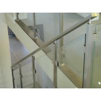China Fixing Balustrade Steel And Glass Stair Railing No Welding Only Screws on sale