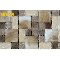 Wholesale Square Bathroom Mosaic Tiles , Hand Painted Kitchen Backsplash Tiles from china suppliers