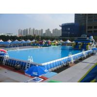 Wholesale Durable Backyard 10 x 30 Aboved Ground Metal Framed Swimming Pools , from china suppliers