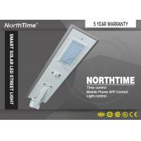 Buy cheap IP 65 Solar Panel Led Street / Road Light , Lithium Battery Light / Smart Phone App Control from wholesalers