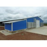 China Pre - Engineered Steel Chicken Houses Gabled Steel Structure With Feed Box for sale