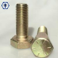 Buy cheap SAE J429 Gr8 Hex Cap Screw/Hex Head Bolts Zinc Yellow from wholesalers