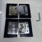 Glass cut -cut C hole brass chrome plated shower door hinge