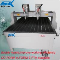 Wholesale Double head high effeciency 1325 size wood cnc engraving machine for wood,plastic,acrylic ect nonmetal materials from china suppliers