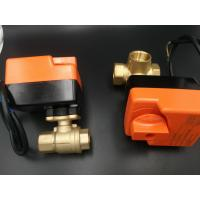 Buy cheap 2 / 3 way electric motorized valve for fan coils from wholesalers