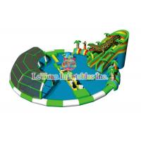 Protection Coating Inflatable Water Park And Slide / TUV Portable Water Park Pool