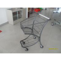 Wholesale 40L Steel Tube Airport / Supermarket Shopping Trolley With Advertisement Board from china suppliers