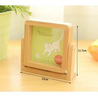 Buy cheap wood gift desk mirror solid beech wood picture frame from wholesalers