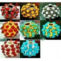 China 8-16mm Multicolor Alloy Pave Beads,Shamballa Beads,Pave Crystal Beads Wholesale on sale