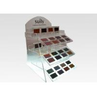 Wholesale 2 Tiers Floor Clear Display Stand Acrylic Cosmetic Makeup Organizer Logo Printing from china suppliers