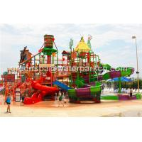 China Giant Aqua Park / Water Park Slides Integrated Amusement Ride With N Slide on sale
