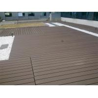 China Waterproof WPC Deck Flooring For Garden , Playground And Outdoor Decorative on sale