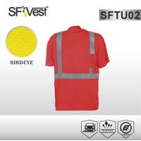 Buy cheap Reflective Safety Clothing 100% Polyester Fabric High Visibility Shirts with Reflective Tape from wholesalers