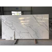 China Quartz Solid Surface Stone White Kitchen Countertops on sale