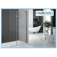 Bi Folding Pivot Hinge Shower Door Glass , Hinged Shower Door Semi Frameless