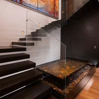 Wholesale Frameless Glass Railing Floating Straight Exterior Stair Design from china suppliers