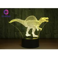 Wholesale RGB 3D Dinosaur Night Light Touch Screen Spinosaurus Thanksgiving Gifts from china suppliers