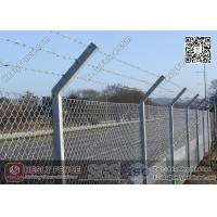 "Wholesale Chain Link Fence | Anti Intruder Security Chain link Fencing with ""V"" arm post from china suppliers"