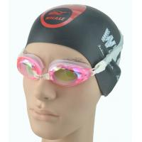 Quality Pink women 100% Anti Fog Swim Goggles with 3 nose piece options for sale