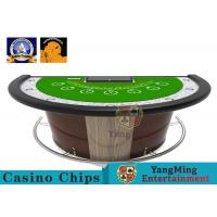 Wholesale Semi - Round Gaming Casino Poker Table Built - In Handrail Edging Thick Elastic Sponge from china suppliers