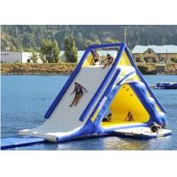 Wholesale 5.5m Large Diameter Floating Water Slide , Blow Up Water Slide Fire Proof Vinyl Tarpaulin from china suppliers