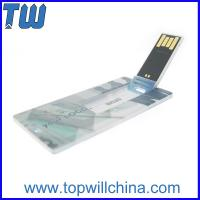 Wholesale Mini Card Plastic Usb Flash Drive 4GB 8GB Storage with Free Printing for Company Gift from china suppliers